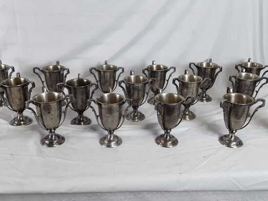 """17 SILVER GOBLETS WITH TEXT - 5.5"""" X 7.5"""""""