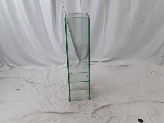 GREEN GLASS VASE BY ACCENT DECOR | 25 X 25 X 85 CM