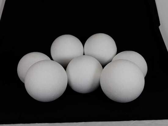 """7 12"""" WHITE DIY STYROFOAM BALLS"""