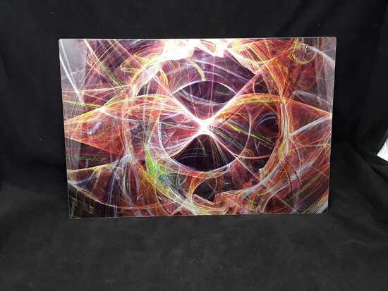 """Hour Glass"" by W. Wright, Abstract Metal Art"