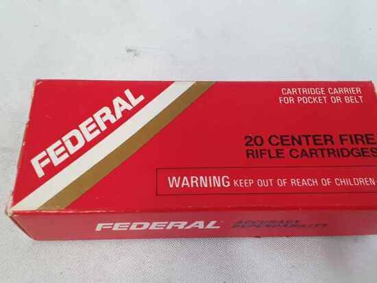 1 BOX OF FEDERAL 222 REMINGTON AMMO