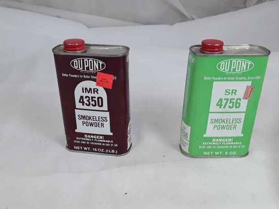 2 CANS DUPONT IMR4350/SR4756 (OPEN) POWDER