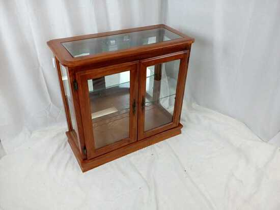 Electric Wood/Glass Display Cabinet