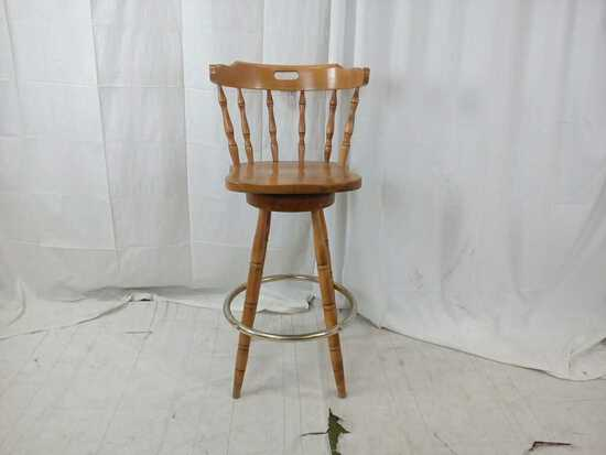 Wood Swivel Stool w/ Handle