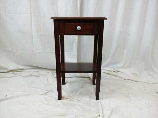 1 Drawer Cherry Wood End Table