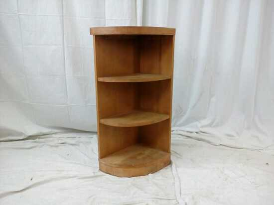 Corner Wood Display/Storage Shelf