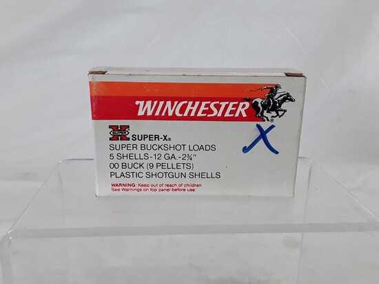 1 BOX WINCHESTER 5 SHELLS 12 GA