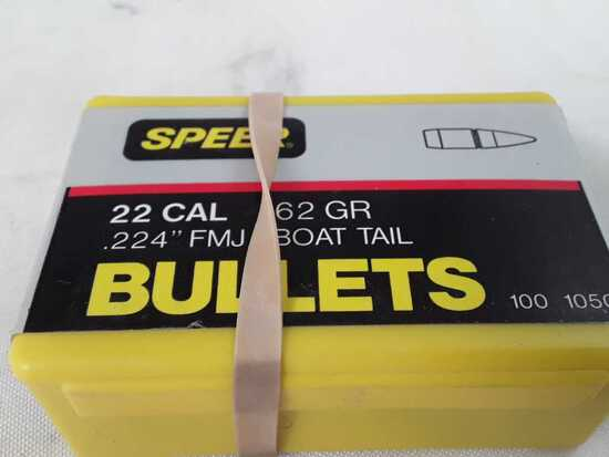 1 BOX OF SPEER 22 CAL BULLETS