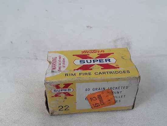 1 BOX WINCHESTER 22 MAGNUM RIM FIRE