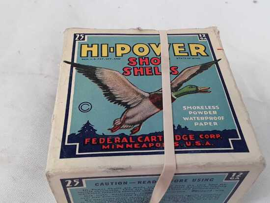 1 BOX FEDERAL HI POWER SHOT SHELLS