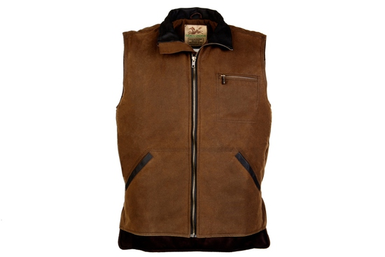 OWO 305BR5 THE RINGER DISTRESSED OILSKIN VEST MD