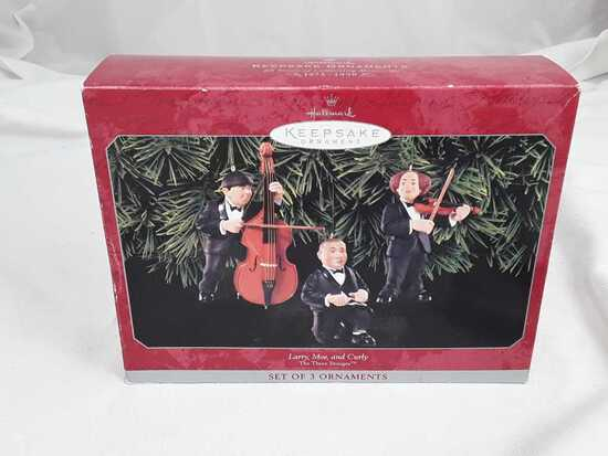 HALLMARK LARRY, MOE, & CURLY1998 IN ORIG BOX
