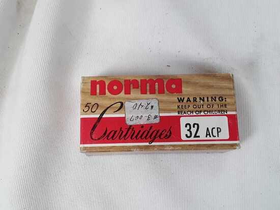 1 BOX NORMA 32 ACP AMMO