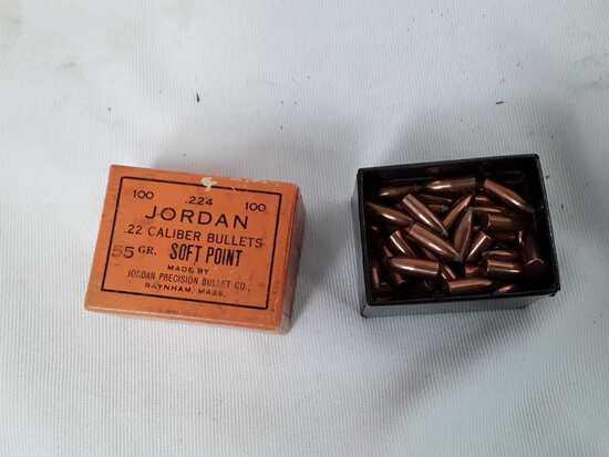 1 BOX JORDAN .22 CAL BULLETS