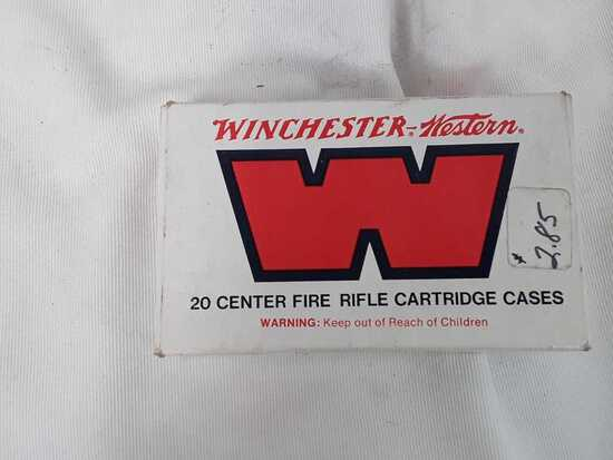 1 BOX WINCHESTER WESTERN 8MM CASINGS