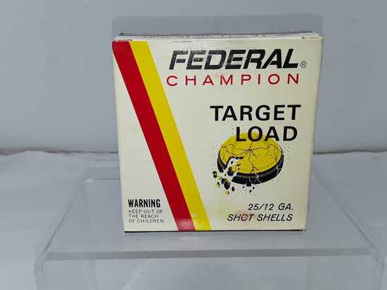 1 BOX FEDERAL CHAMPION 12 GA SHOTGUN SHELLS