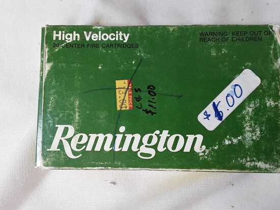 1 BOX OF REMINGTON 30-06 CAL AMMO