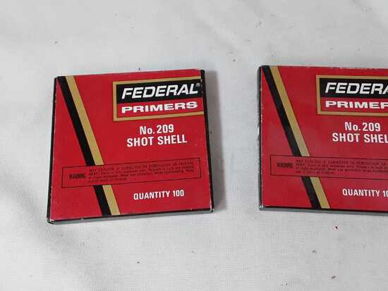 2 BOXES OF FEDERAL SHOTSHELL PRIMERS