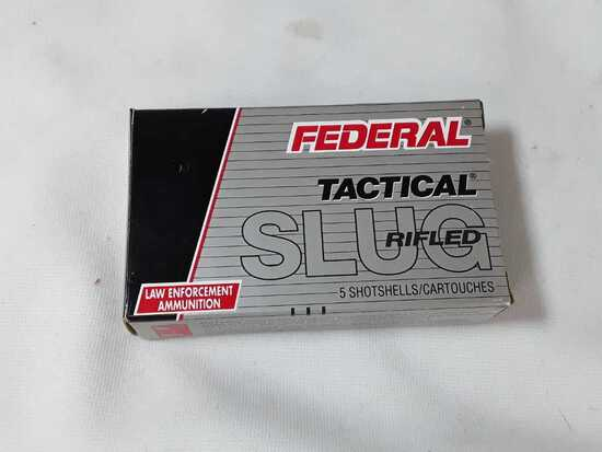 1 BOX FEDERAL12 GA RIFLED SLUGS (AMMO)