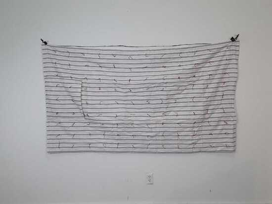 "42"" X 80"" ADULT STRIPPED PILLOW & QUILT"