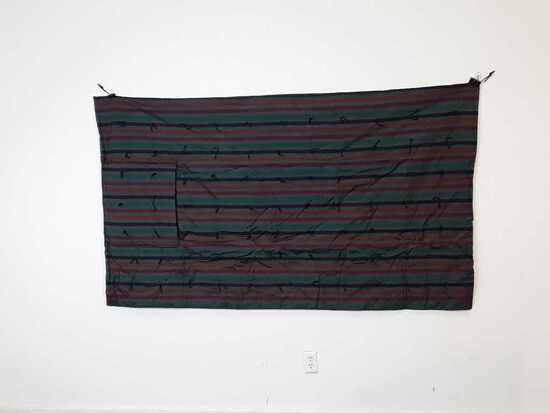 "44"" X 78"" STRIPPED PILLOW QUILT"