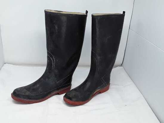 Weather Spirits Waterproof Rubber Boots SZ 10