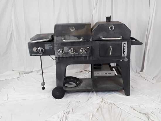 Multi Burner Gas Grill & Smoker