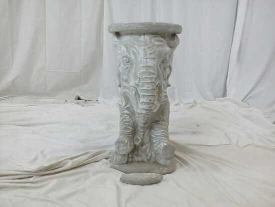 Concrete Elephant Plant Stand