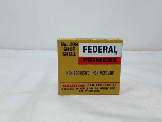1 BOX OF FEDERAL SHOT SHELL PRIMERS