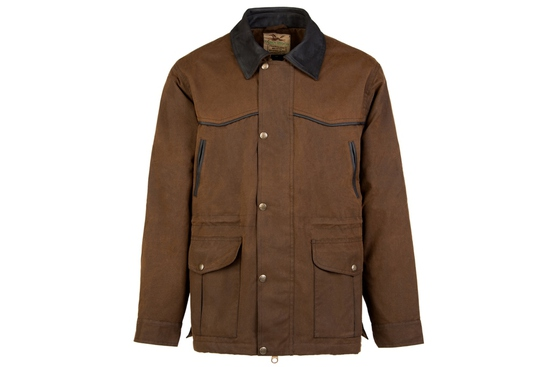 OWO 205BR5- THE DRAFTER 3/4 DISTRESSED OILSKIN M