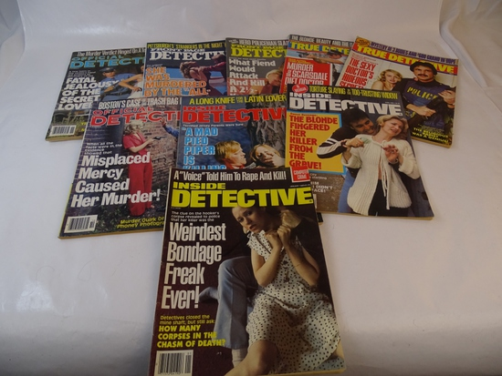 10 FRONT PAGE DETECTIVE MAGAZINES 1980-83 ISSUES