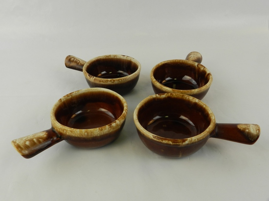 SET OF 4 HANDMADE FRENCH ONION SOUP BOWLS