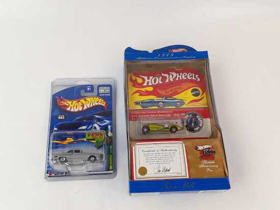 2 HOT WHEELS, 69 TWIN MILL, FORD THUNDERBOLT