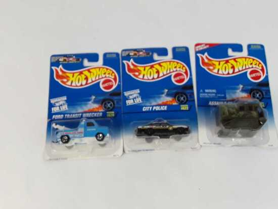 3 HOT WHEELS COLLECTOR #S: 620 / 622 / 624