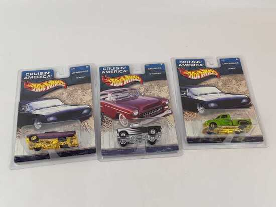 3 HOT CRUSIN' AMERICA IN ORIGINAL PKG W/HARD CASE