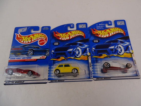 3 HOT WHEELS COLLECTOR #S: 070 / 090 / 016