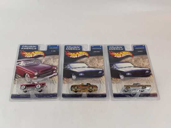 3 HOT WHEELS CRUISIN'AMERICA NEW IN PACKAGE