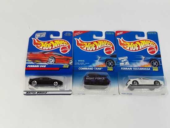 3 HOT WHEELS/ NEW/ COLLECTOR #S 443/ 486/ 497