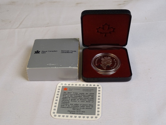 1990 Royal Canadian Min Silver Dollar 500Silver