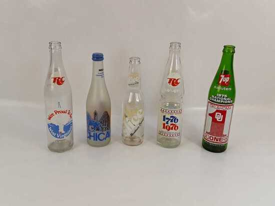 Vintage Soda Bottles Qty5