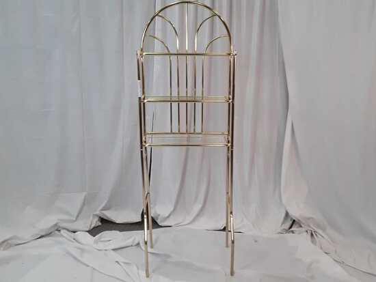 Brass tone Bathroom Space Saver Rack