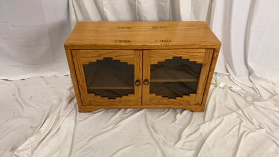 Southwestern wood and Glass Cabinet