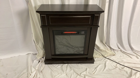 Dark Wood Electric Fireplace Heater