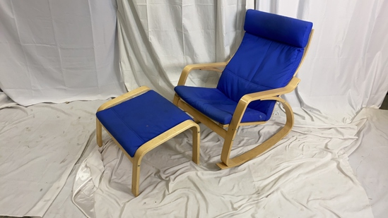 Modern Design Rocking Chair and Stool