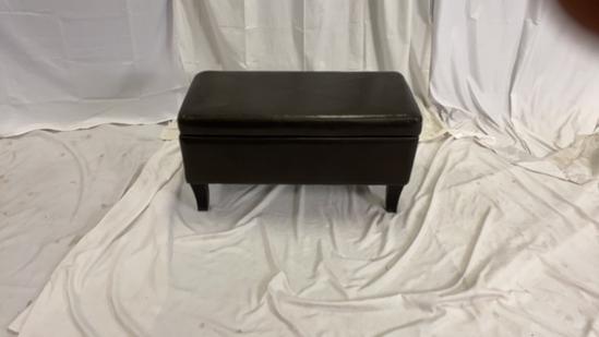 Dark Brown Storage Bench