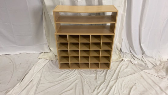 Light Wood 25 Cube Organizer and Top Storage
