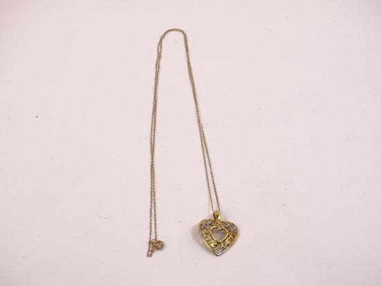 10K Yellow Gold Chain & Heart Pendant 2g (0.1oz)