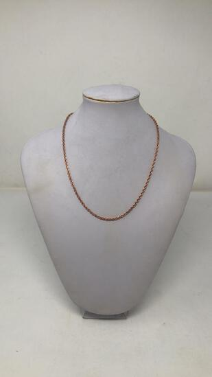 14K ROSE GOLD WHEAT STYLE CHAIN 2G