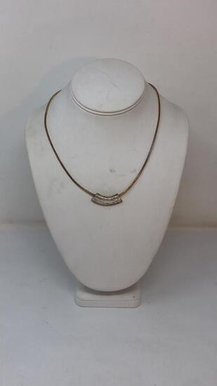 STERLING SILVER OMEGA NECKLACE & PENDANT 15G