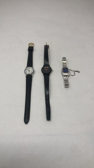 LOT OF 3 WOMENS WRIST WATCHES